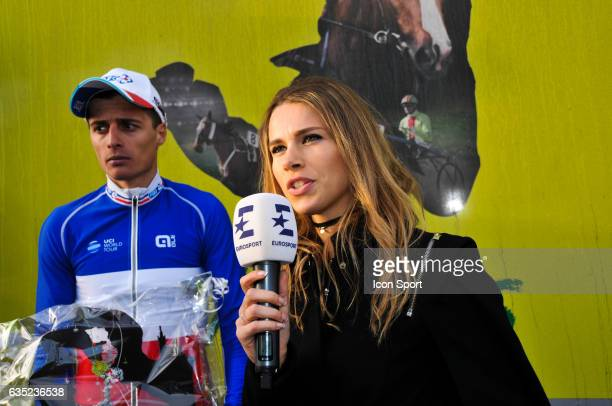 Arthur Vichot of Fdj and Marion Rousse during the GP La Marseillaise stage of the french national cup on January 29 2017 in Marseille France