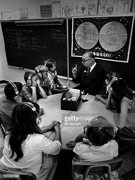 MAY 28 1969 JUN 3 1969 Arthur Washburn opens a science study of CO2 equipped with snake baking soda water and vinegar Earphones for class $2000 to...