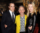Arthur Wellesley Patrick Cox and Jemma Kidd attend a drinks reception celebrating Patrick Cox's 50th Birthday party at Cafe Royal on March 15 2013 in...