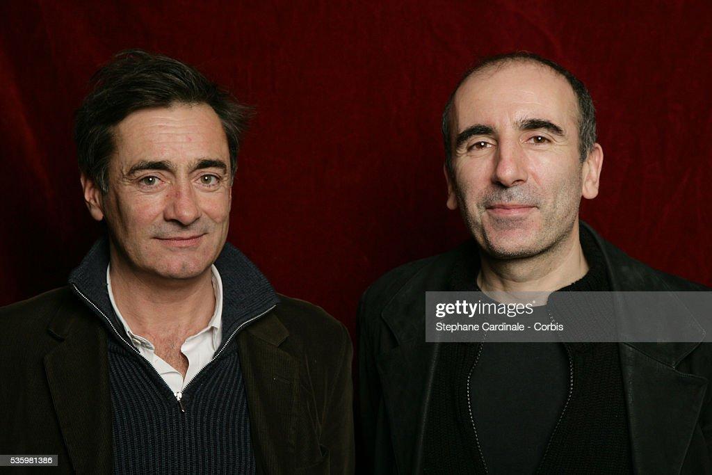 Arthus de Penguen and Philippe Harel at the 'Henri Jeanson' prize ceremony.