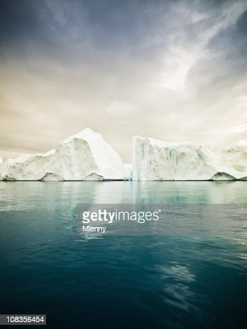 Artic North Pole Icebergs Greenland Fjord