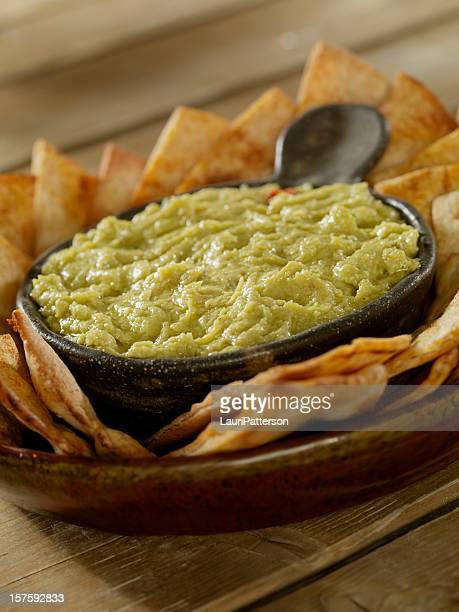 Artichoke and Chickpea Hummus with Pita Chips