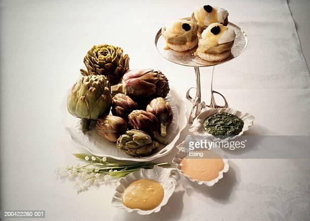 Artichoke Dips and stuffed Artichoke Hearts