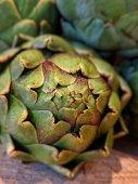 Fresh artichoke ready for chopping