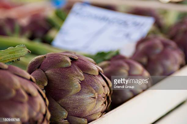 Artichokes at the Campo dei Fiori Market.