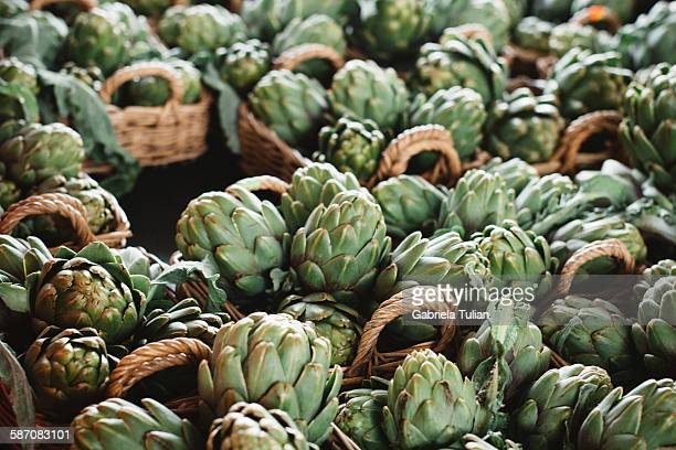 Artichokes at the local market