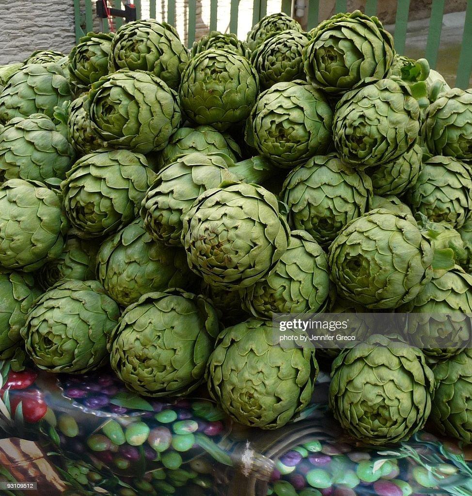 Artichokes at the Market : Stock Photo