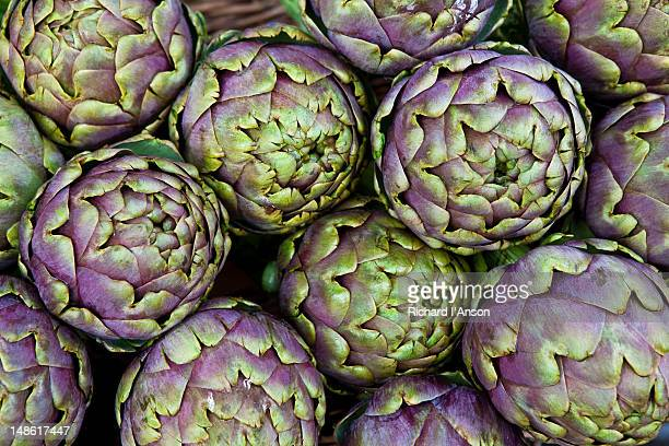 Artichokes for sale at market at Campo De' Fiori.
