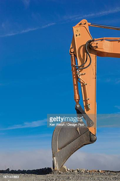 Articulated Arm And Scoop Of Mechanical Excavator