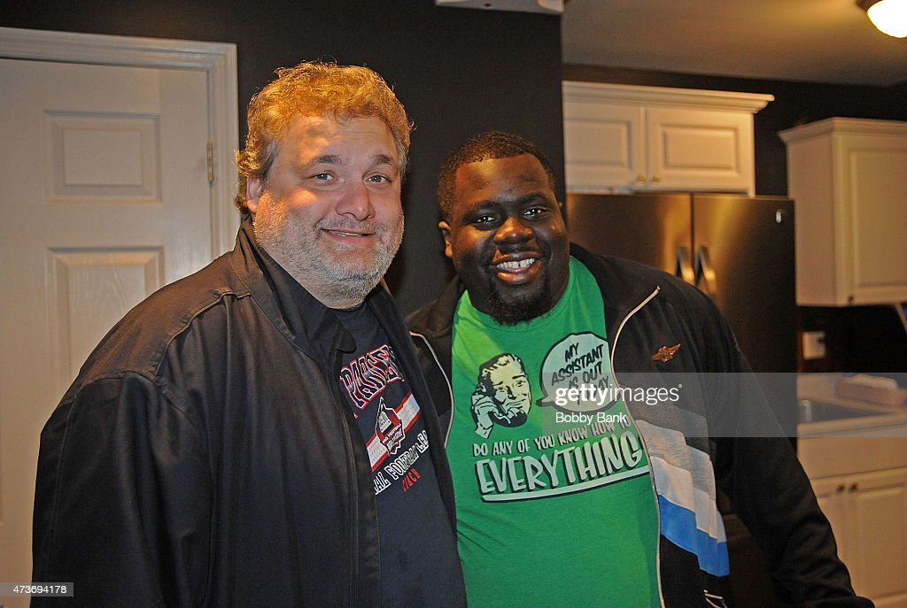 Artie Lange and Chris Cotton backstage at Starland Ballroom on May 16 2015 in Sayreville New Jersey