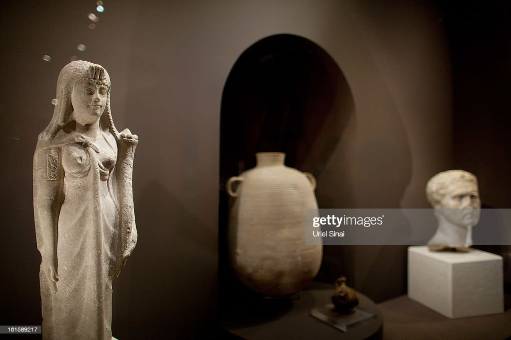 Artifacts are set set for display at he 'Herod the Great' exhibition as it opens at the Israel museum on February 12, 2013 in Jerusalem, Israel. The exhibition is devoted to the architectural legacy of King Herod, the Jewish proxy monarch who ruled Jerusalem and the Holy Land under Roman occupation two millennia ago.