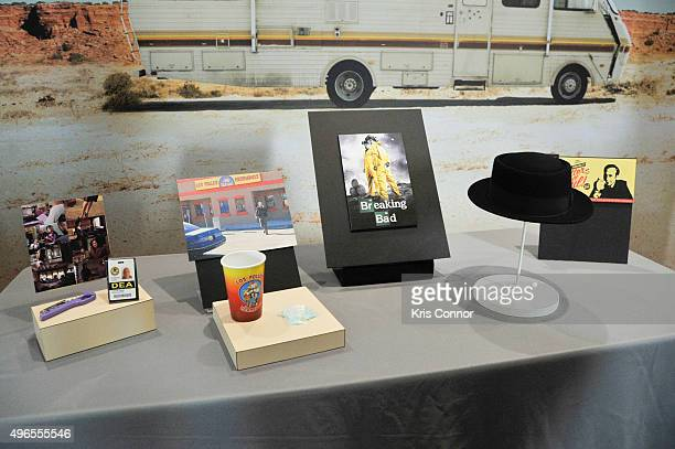 Artifacts from AMC's 'Breaking Bad' including 'The Heisenberg Hat' Tyvek suits Hanks's DEA ID Card Marie's DEA ID card Marie's purple screw Los...