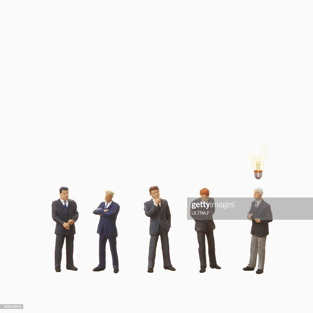 Artificial businessmen,standing