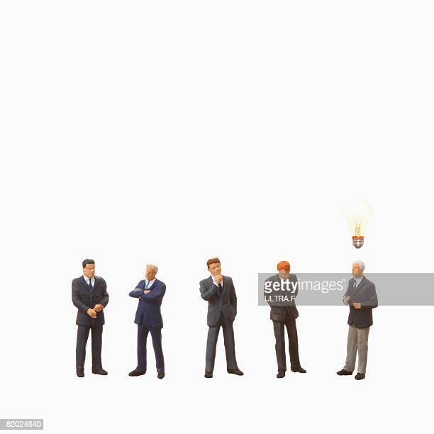 Artificial businessmen,standing
