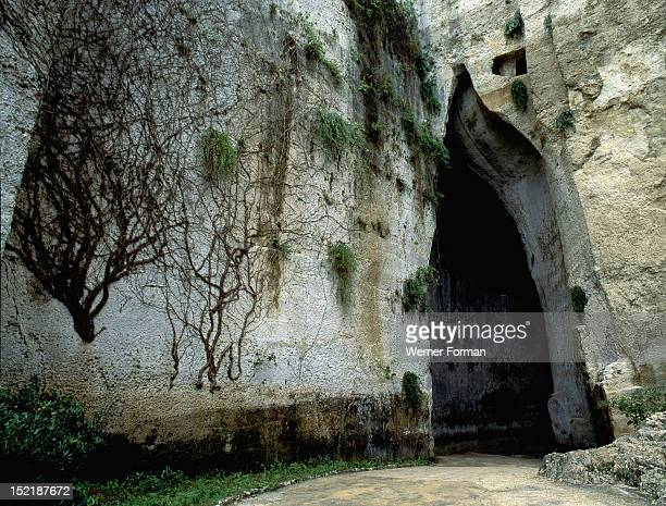 Artificial cave known as 'The Ear of Dionysios' It was given its name by Caravaggio who thought that it was used as a prison by the tyrant Dionysios...