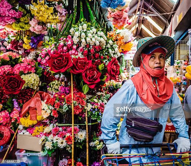 Artificial flower shop Chatuchak market Bangkok