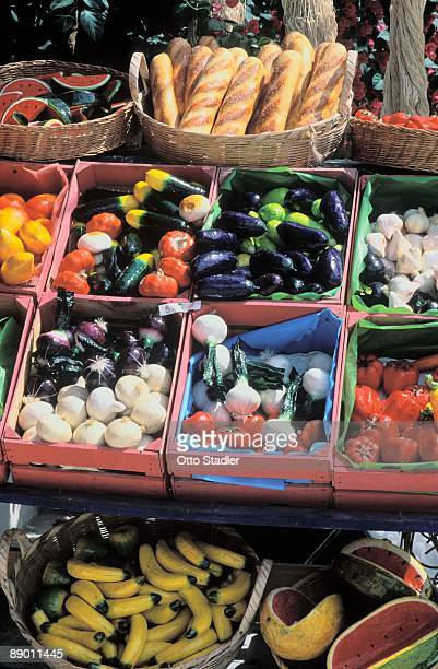 Artificial fruits and vegetables in shop in Playa del Carmen, Mexico