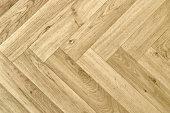 full frame detail of a artificial wooden parquet floor