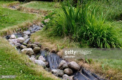 Artificial pond stream and decorative landscaped garden for Artificial pond in garden
