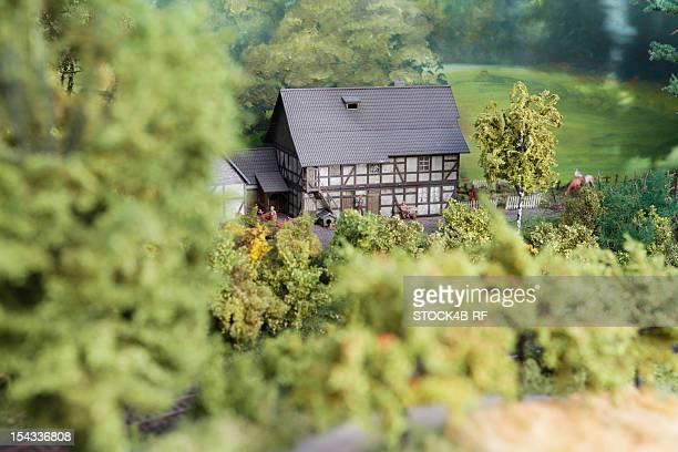 Artificial scenery of a model railway