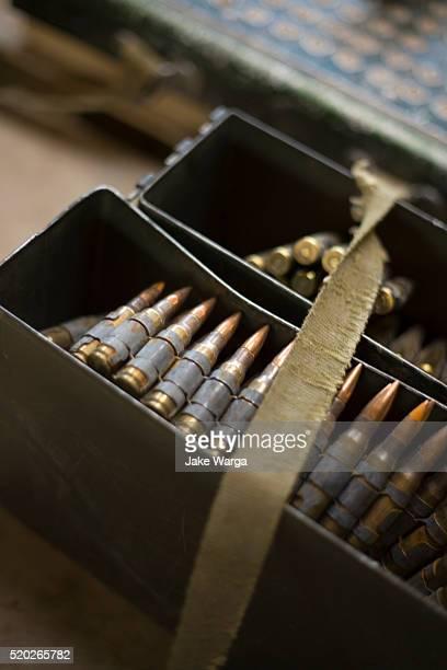 artillery rounds in ammunition box