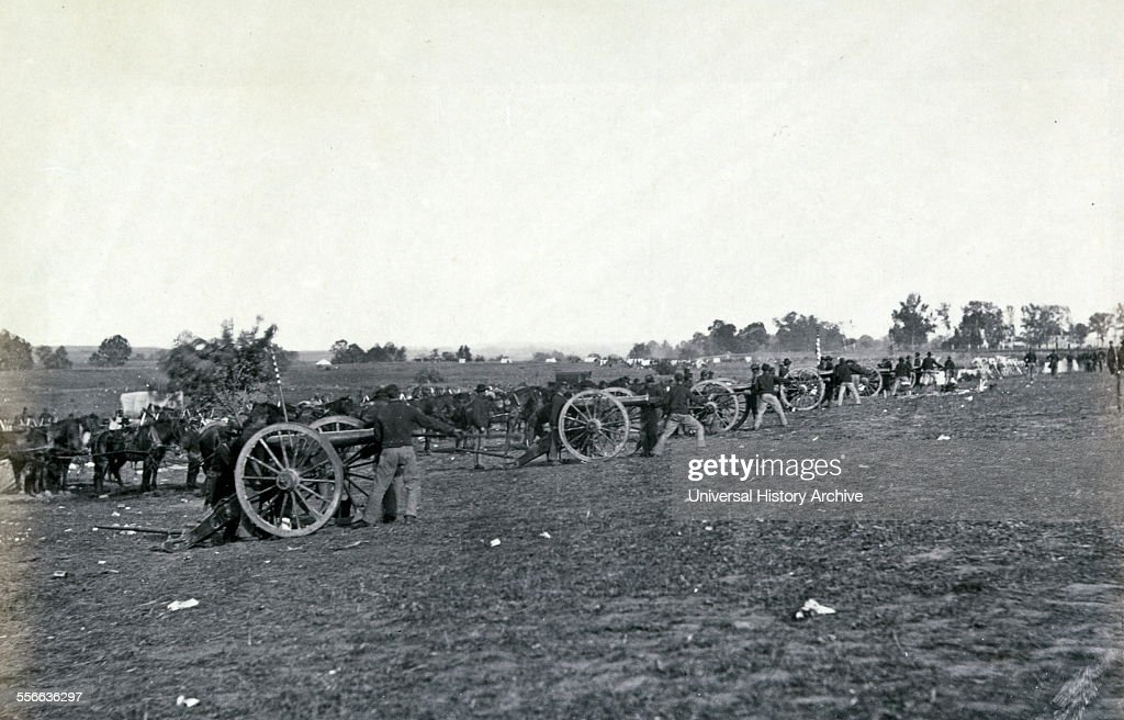US artillery Union Army artillery at the Battle of Fredericksburg December 11–15 1862