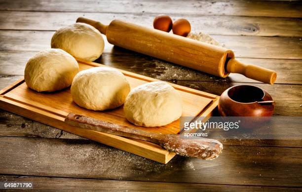 Artisanal Bakery: Dough making ingredients and utensils