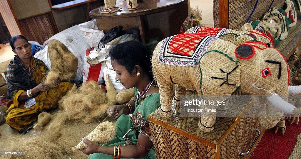 Artisans manufacture at India International Trade Fair at Pragati Maidan on November 15, 2012 in New Delhi, India.