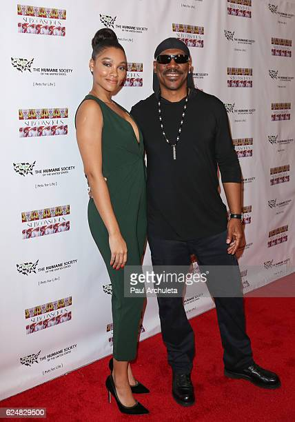 Artist / Actress Bria Murphy and Actor Eddie Murphy attend the debut gallery opening of Bria Murphy's 'Subconscious' at Los Angeles Contemporary...