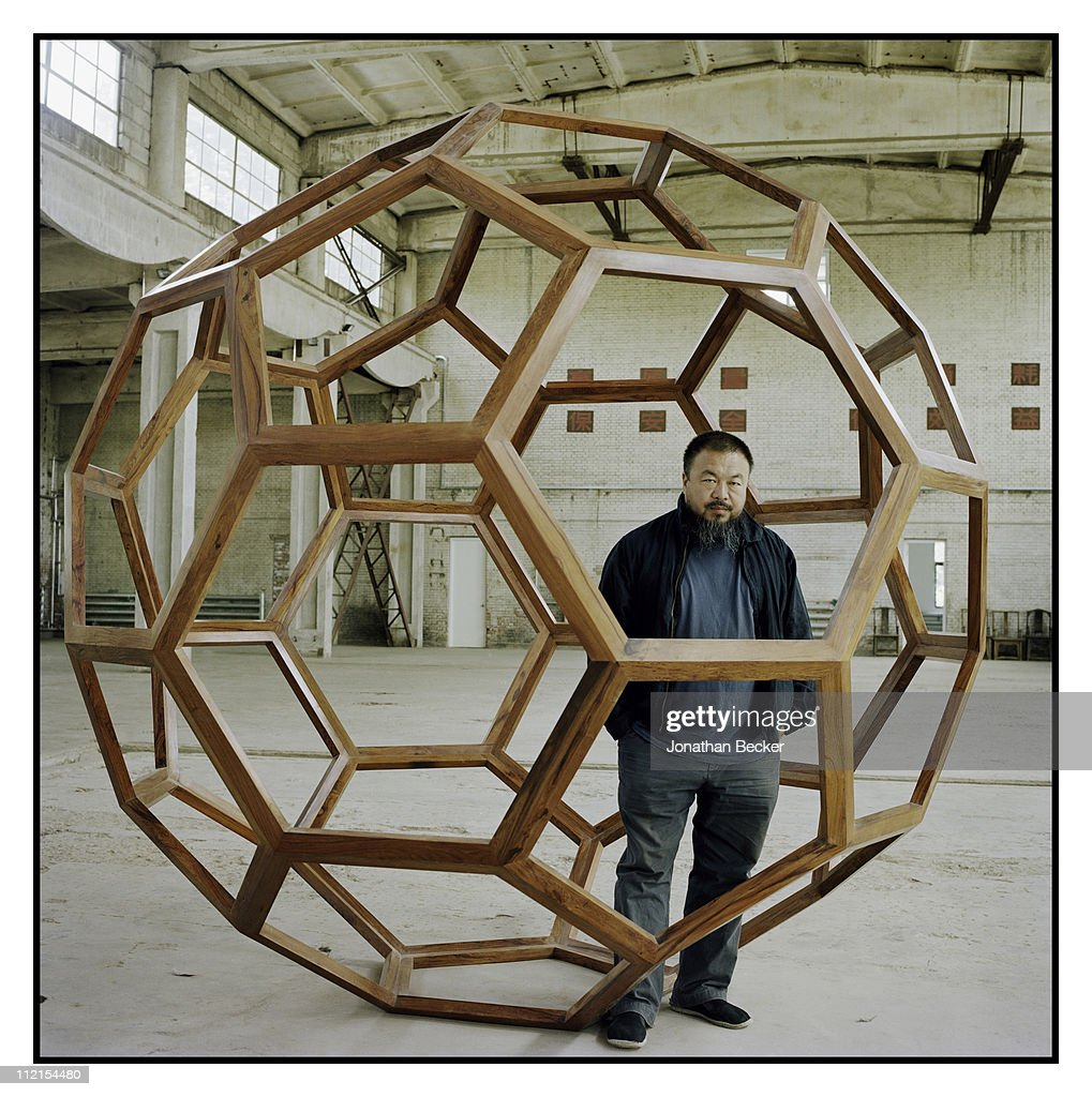 Artist <a gi-track='captionPersonalityLinkClicked' href=/galleries/search?phrase=Ai+Weiwei&family=editorial&specificpeople=4331218 ng-click='$event.stopPropagation()'>Ai Weiwei</a> is photographed for Vanity Fair Magazine on May 12, 2007 in Beijing, China.