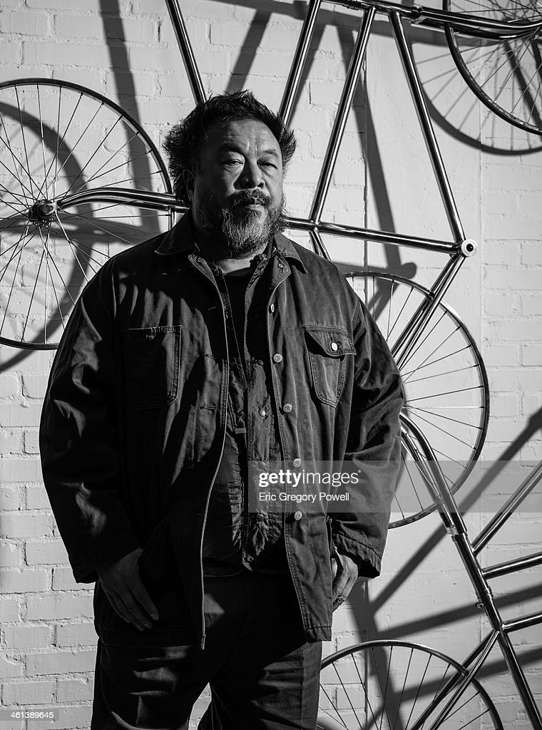 Artist Ai Weiwei is photographed on November 29, 2013 in Beijing, China.