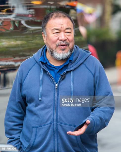 Artist Ai Weiwei is seen in Washington Square Park on October 15 2017 in New York New York