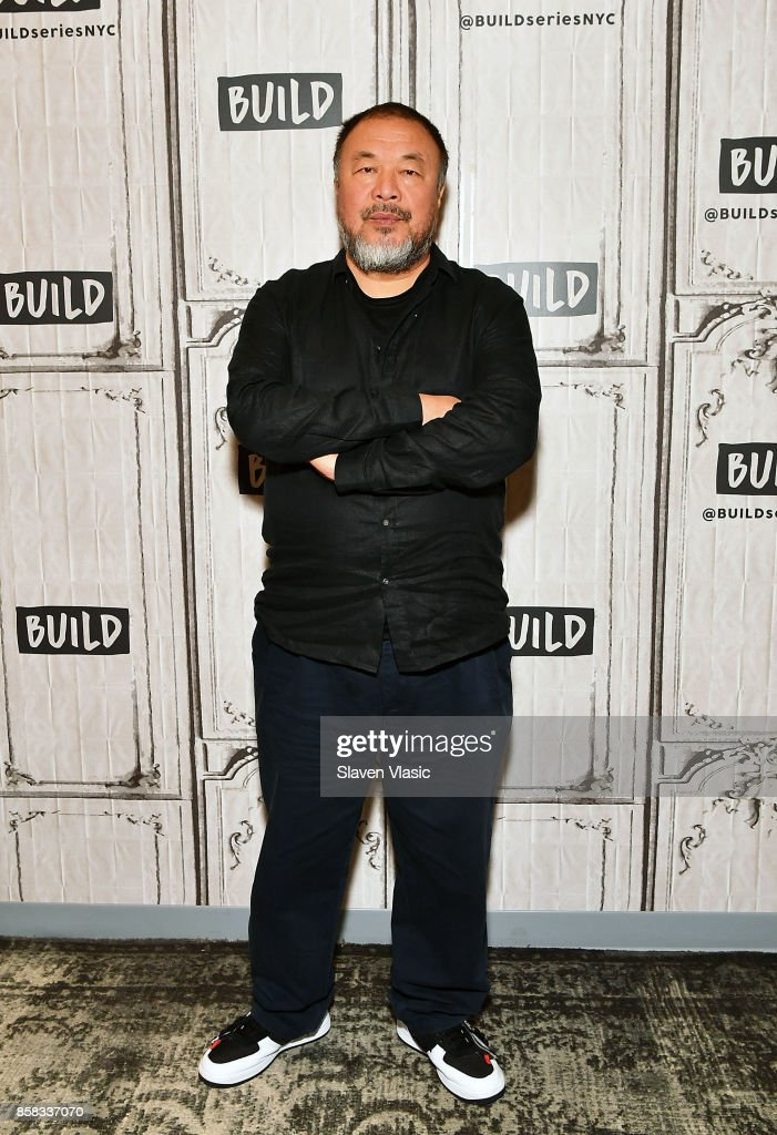 Artist Ai Weiwei visits Build to discuss his documentary 'Human Flow' at Build Studio on October 6, 2017 in New York City.