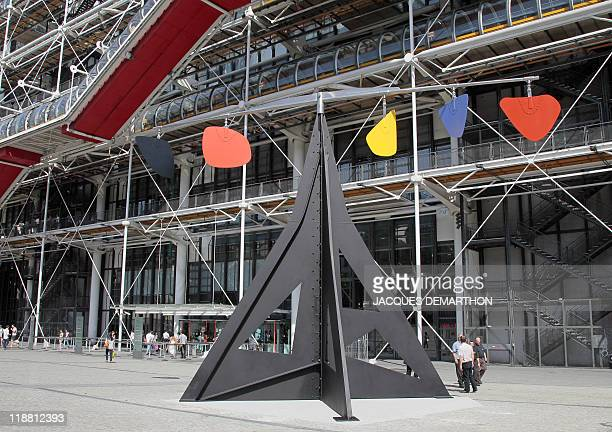 US artist Alexander Calder 1974's mobile 'Horizontal' is displayed on the piazza in front of Paris Centre Pompidou modern arts museum on June 27 2011...