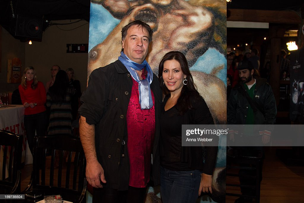 Artist Alexander Kanevsky and Actress Isabella Cascarano attend Social Lodge At Sundance Film Festival at Cisero's Bar on January 19, 2013 in Park City, Utah.