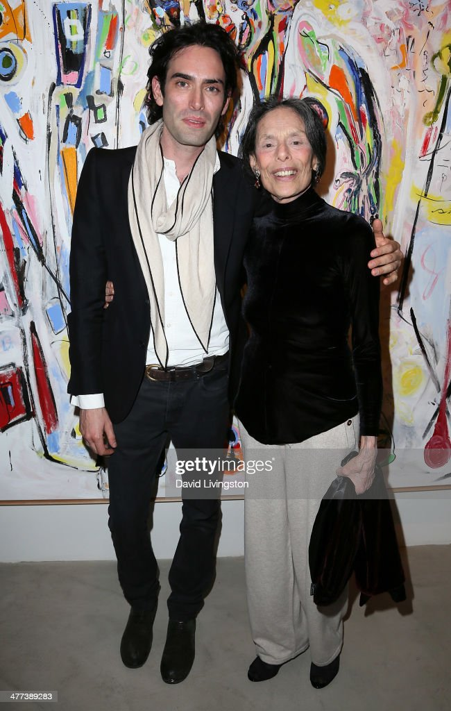 Artist Alexander Yulish (L) and mother sculptor Barbara Pearlman attend the Alexander Yulish 'An Unquiet Mind' VIP opening reception at KM Fine Arts LA Studio on March 8, 2014 in Los Angeles, California.