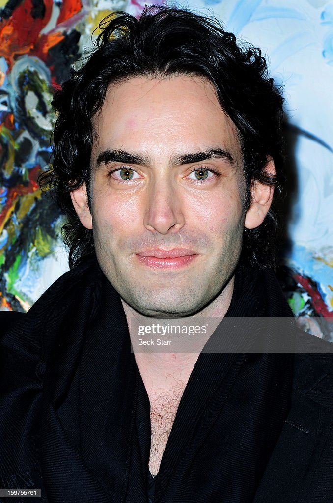 Artist Alexander Yulish attends his art exhibition and opening 'Interior Stories' at Gallery Brown on January 19, 2013 in Los Angeles, California.