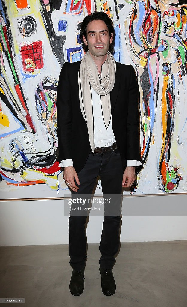 Artist Alexander Yulish attends the Alexander Yulish 'An Unquiet Mind' VIP opening reception at KM Fine Arts LA Studio on March 8, 2014 in Los Angeles, California.