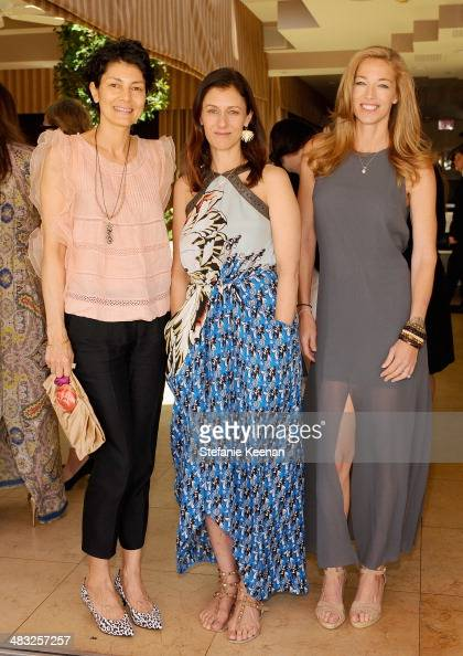 Artist Alisa Ratner Creative Digital Director of Vogue Sally Singer and model Elaine Irwin attend Vogue Lunch In Celebration Of The Etro Spring...