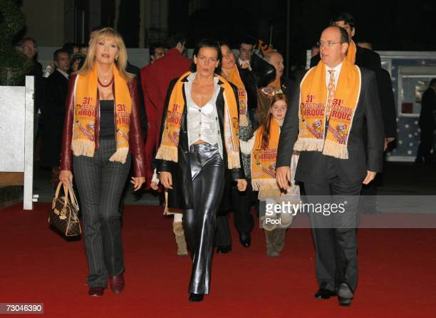 Artist Amanda Lear Princess Stephanie of Monaco and Prince Albert of Monaco attend the 31th International Circus Festival of Monte Carlo held in...