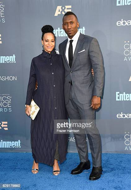 Artist Amatus SamiKarim and actor Mahershala Ali attend The 22nd Annual Critics' Choice Awards at Barker Hangar on December 11 2016 in Santa Monica...