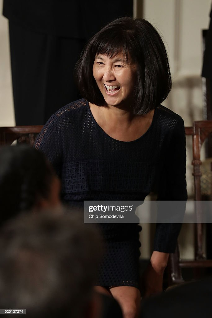 Artist and architect Maya Lin smiles before being awarded the Presidential Medal of Freedom by U.S. President Barack Obama during a ceremony in the East Room of the White House November 22, 2016 in Washington, DC. Obama presented the medal to 19 living and two posthumous pioneers in science, sports, public service, human rights, politics and the arts.