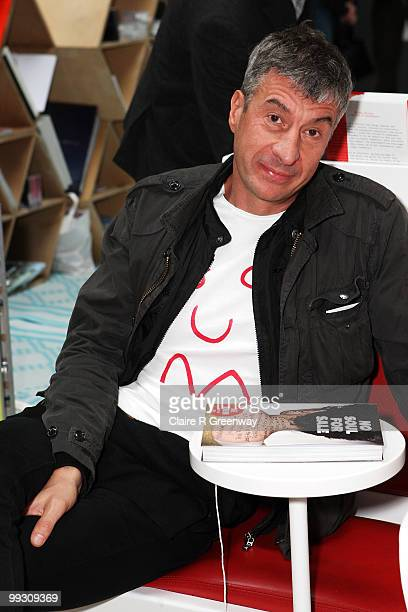 Artist and cocurator Maurizio Cattelan attends No Soul For Sale in the Turbine Hall celebrating 10 years of Tate Modern on May 14 2010 in London...