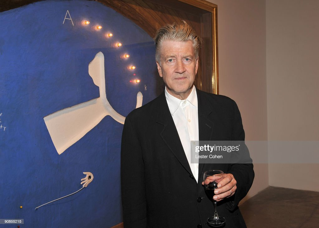 Artist and filmmaker <a gi-track='captionPersonalityLinkClicked' href=/galleries/search?phrase=David+Lynch&family=editorial&specificpeople=224589 ng-click='$event.stopPropagation()'>David Lynch</a> attends the <a gi-track='captionPersonalityLinkClicked' href=/galleries/search?phrase=David+Lynch&family=editorial&specificpeople=224589 ng-click='$event.stopPropagation()'>David Lynch</a>: New Paintings Exhibit Event at Griffin LA on September 12, 2009 in Santa Monica, California.