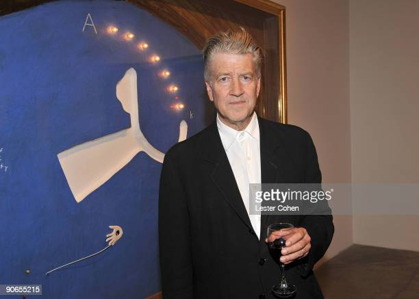 Artist and filmmaker David Lynch attends the David Lynch New Paintings Exhibit Event at Griffin LA on September 12 2009 in Santa Monica California