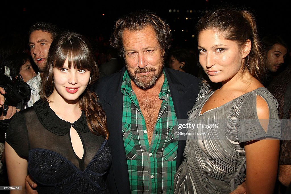 Artist and filmmaker Julian Schnabel (C) his daughter Stella Schnabel (R) attends the Zac Posen Spring 2009 fashion show during Mercedes-Benz Fashion Week at The Tent, Bryant Park on September 11, 2008 in New York City.