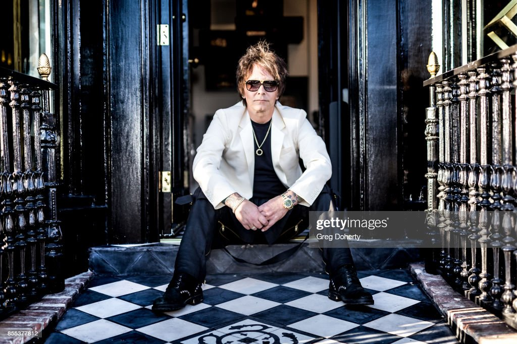 Artist and Guitar Player Billy Morrison poses for a portrait before the Billy Morrison - Aude Somnia Solo Exhibition at Elisabeth Weinstock on September 28, 2017 in Los Angeles, California.