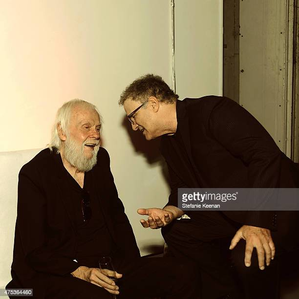 Artist and honoree John Baldessari and actor Albert Brooks attend the 2015 MOCA Gala presented by Louis Vuitton at The Geffen Contemporary at MOCA on...