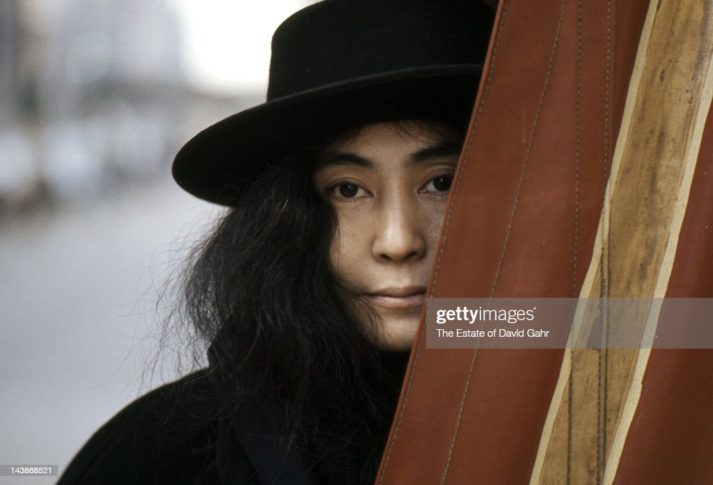 Artist and singer Yoko Ono poses for a portrait in November 1974 in New York City, New York.