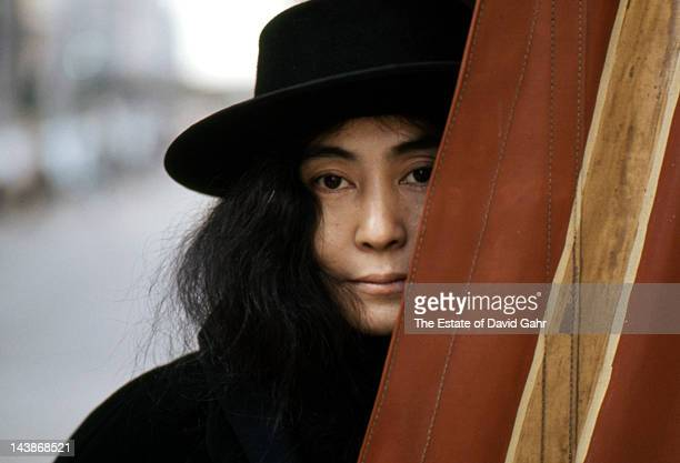 Artist and singer Yoko Ono poses for a portrait in November 1974 in New York City New York